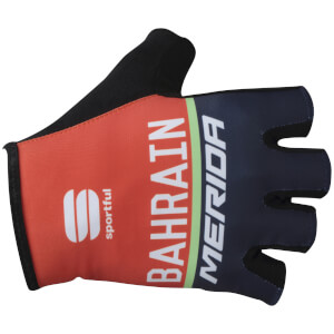 Sportful Bahrain Merida BodyFit Pro Race Gloves - Red/Blue