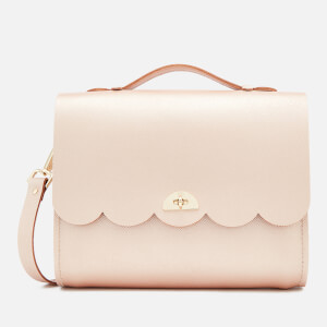 The Cambridge Satchel Company Women's Convertible Cloud Backpack - Rose Gold Saffiano
