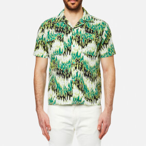 Levi's Vintage Men's Spread Collar Short Sleeve Shirt - Green Haze Multi Pattern