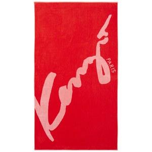 KENZO Signe Beach Towel - Rouge
