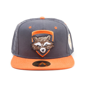 Marvel Guardians of the Galaxy Vol. 2 Rocket Snapback Cap - Grey/Orange