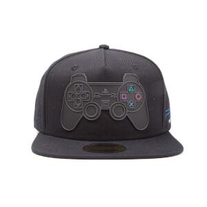 PlayStation 2 Rubber Controller Logo Snapback Cap - Black