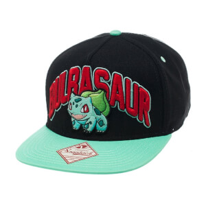 Pokémon Bulbasaur Snapback Cap - Black/Blue