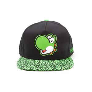 Nintendo Super Mario Yoshi Rubber Print Snapback Cap - Black/Green