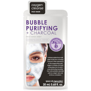 Skin Republic Bubble Purifying + Charcoal Face Mask -kuplanaamio