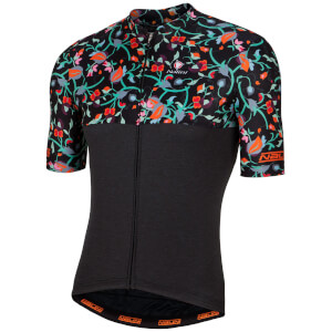 Nalini San Babila Short Sleeve Jersey - Black/Fluo