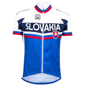 Santini Slovakia National Team 17 Jersey - White/Blue