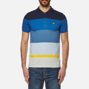 Lyle & Scott Men's Engineered Stripe Polo Shirt - Navy