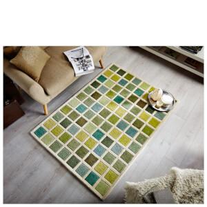 Flair Illusion Tonal Rug - Campari Green/Cream