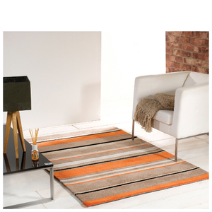 Flair Infinite Inspire Rug - Broad Stripe Orange