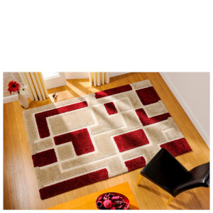 Flair Venice Imperial Rug - Red/Beige