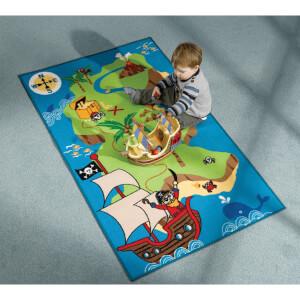 Tapis Matrix Kiddy Flair Rugs - Carte Pirate (100X160)