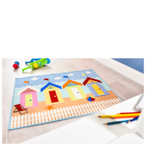 Flair Matrix Kiddy Rug - Beach Huts Multi (80X100)