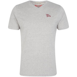 Tokyo Laundry Men's Essential V Neck T-Shirt - Light Grey Marl