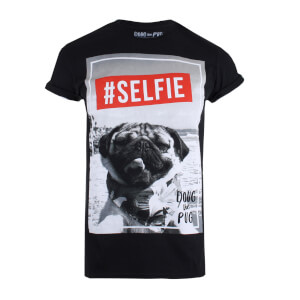 T-shirt Homme Doug The Pug Selfie - Noir