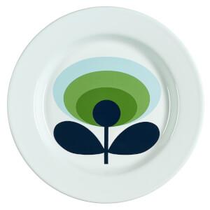 Orla Kiely Enamel Plate 70's Flower - Apple
