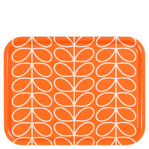 Orla Kiely Linear Stem Large Tray - Persimmon