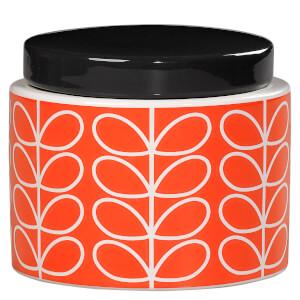 Orla Kiely Small Storage Jar - Persimmon