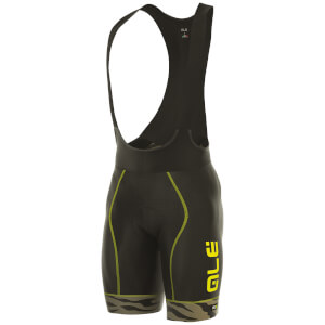 Alé PRR 2.0 Flowers Bib Shorts - Black/Brown