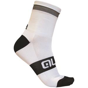 Alé Reflex 10cm Cuff Cycling Socks - White/Black
