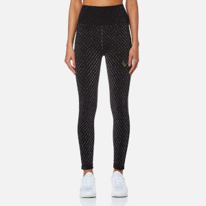 Lucas Hugh Women's Technical Knit Stardust Leggings - Black Multi