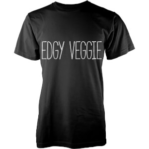 T-Shirt Homme Edgy Veggie - Noir