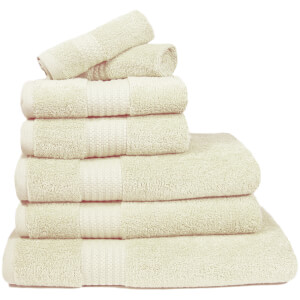 Restmor 100% Egyptian Cotton 7 Piece Supreme Towel Bale Set (500gsm) - Ivory