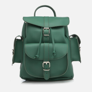 Grafea Women's Medium Leather Rucksack - Forest