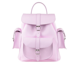Grafea Women's Medium Leather Rucksack - Powder Pink
