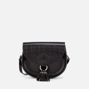 The Cambridge Satchel Company Women's Mini Tassel Bag - Black Patent Croc