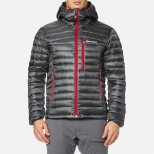 Montane Men's Featherlite Down Jacket - Shadow/Alpine Red