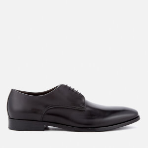 BOSS Hugo Boss Men's High Line Leather Derby Shoes - Black