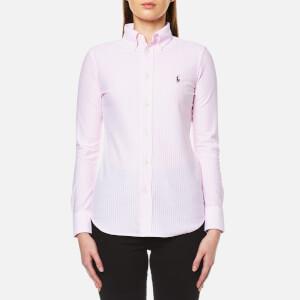 Ralph Lauren Women's Heidi Shirt - Carmel Pink/White