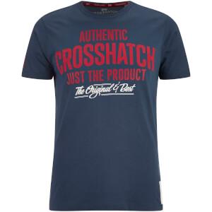 Crosshatch Men's Greendale Sleeve Logo T-Shirt - Midnight Blue