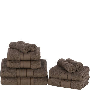 Highams 100% Egyptian Cotton 10 Piece Towel Bale (500 gsm) - Chocolate
