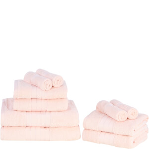 Highams 100% Egyptian Cotton 10 Piece Towel Bale (500 gsm) - Light Pink