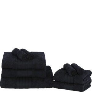 Highams 100% Egyptian Cotton 9 Piece Towel Bale (500 gsm) - Black