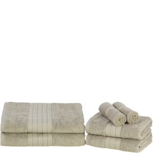 Highams 100% Egyptian Cotton 6 Piece Towel Bale (500 gsm) - Mink