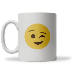 Winky Face Emoji Mug