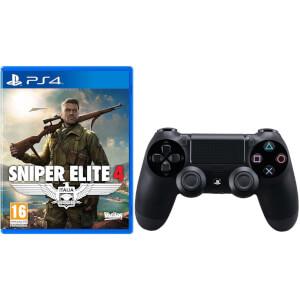 Manette DualShock 4 Sniper Elite 4 avec Sony PlayStation 4 -Noir