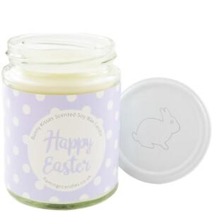 Happy Easter Lilac Polka-Dot Bunny Kisses Candle