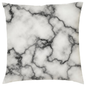 Marble Print Cushion - Grey