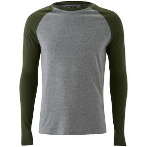Camiseta manga larga Brave Soul Osbourne - Hombre - Gris/caqui