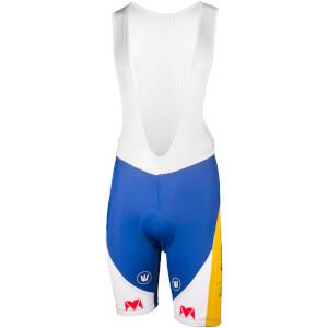 Sport Vlaanderen Bib Shorts - White/Blue/Yellow