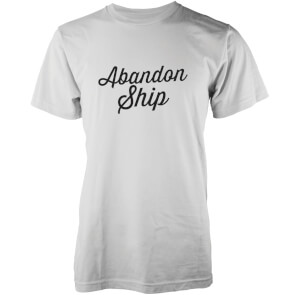 Abandon Ship Men's Classic Logo T-Shirt - White