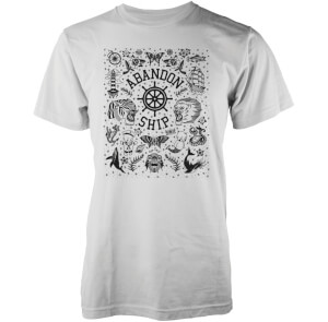 T-Shirt Homme Wall Flash Abandon Ship -Blanc