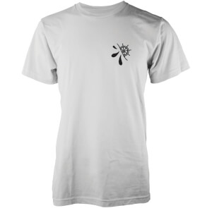 T-Shirt Homme Hidden Wheel Logo Abandon Ship -Blanc