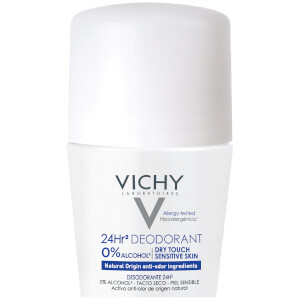 Vichy 24 Hour Dry-Touch Roll On Deodorant, Aluminum Free, Salt Free, 1.7 Fl. Oz.