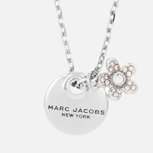 Marc Jacobs Women's MJ Coin Crystal Pendant - Silver