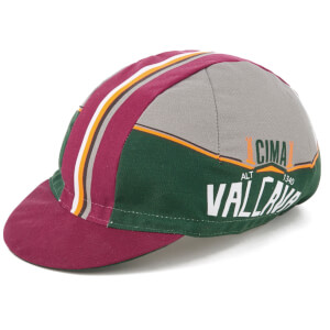 Santini Bergamo Collection Valcava Cap - Burgundy